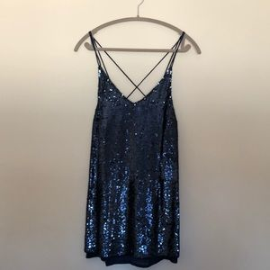Free people sparkle slip dress